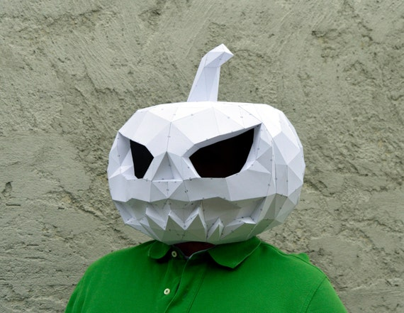 make your pumpkin mask  papercraft pumpkin mask halloween