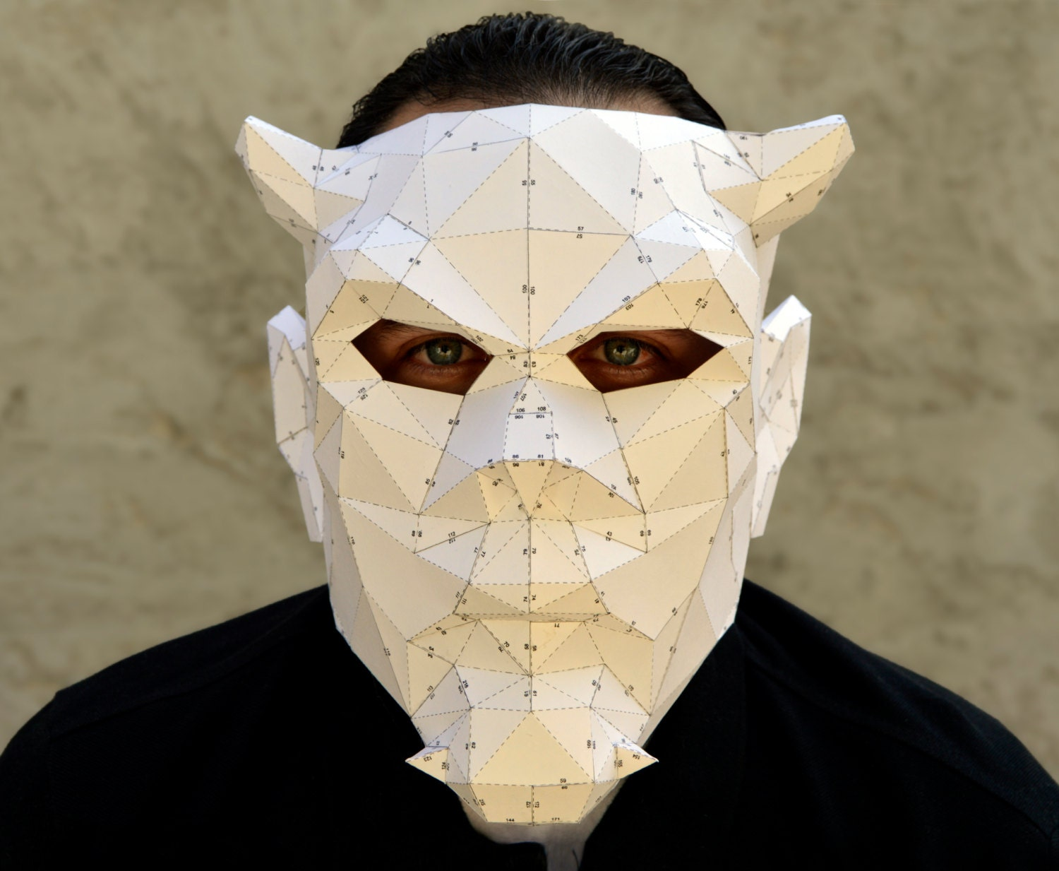 Make your own devil mask halloween mask by plainpapyrus for Make your own halloween mask online