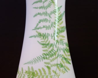 Vintage Mikasa, Lacy Fern, bone china vase