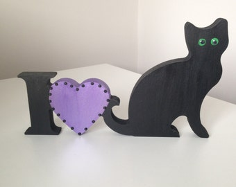 I Love Cats, Cat ornaments, Gifts for cat lovers, Cat themed gifts.