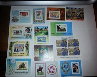Beautiful Lot of 13 Airmail Souvenir Sheet Stamps