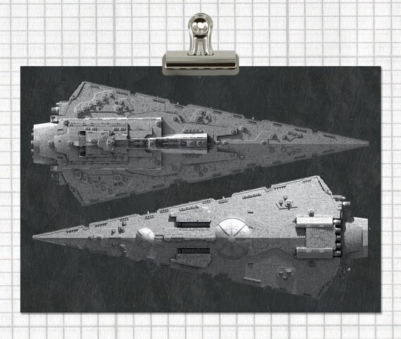 Items similar to empire 39 s imperial star destroyer poster for Sci fi home decor