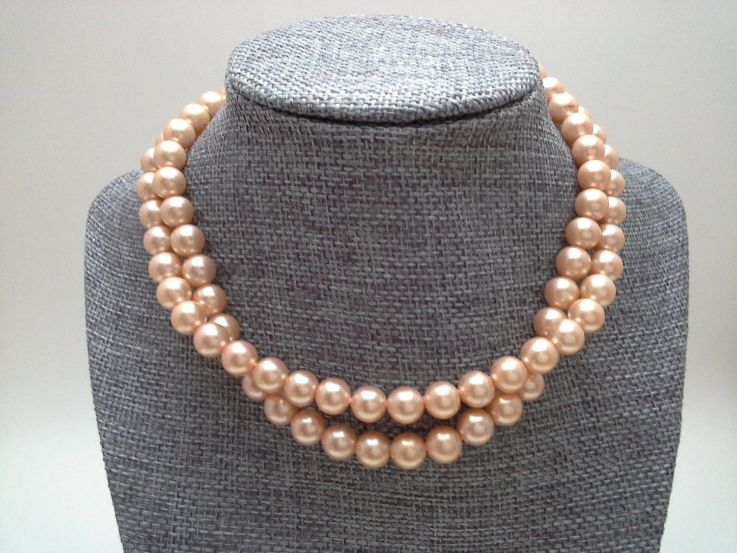 Pink Pearl Choker Pink Faux Pearls Pink Pearl Necklace