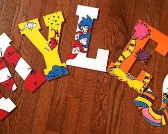 Dr. Seuss Hand Painted Letters