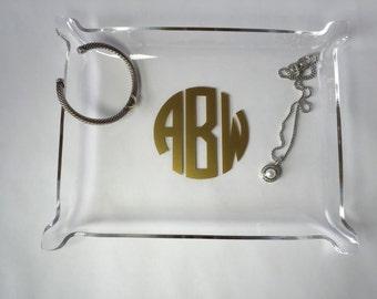 """Tray - Jewelry Tray - BLANK Acrylic Tray (8"""" x 6"""") - Jewelry Dish"""