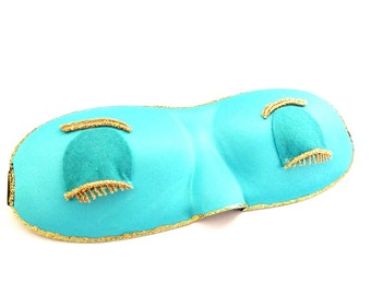 Breakfast at Tiffany's  Audrey Hepburn sleep Eye mask  ,Holly Golightly sleep eye mask ,Sleep mask Aqua color