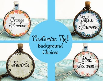 PERSONALIZED CUSTOM - Pendant Design Your Own Necklace - Custom Quote Jewelry