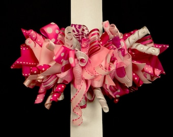 Pink Funky Loopy Hair Bow