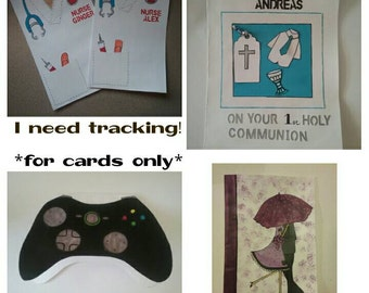 Tracking for cards, magnets and Bookmarks ONLY!