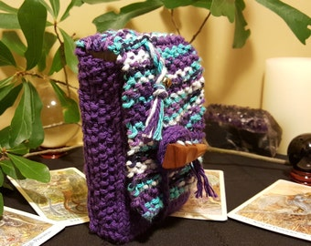 Hand Knitted Tarot Card Case Pagan Wiccan