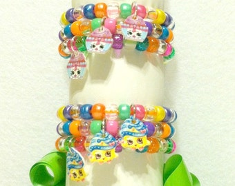 Shopkins Party Favor Bracelets in packs of six, nine, or twelve - Available with options in selecting your pack