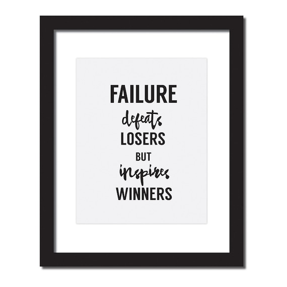 Inspirational Quotes About Failure: Items Similar To Success Quotes, Office Desk Accessories