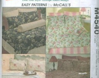 "McCall's Sewing Pattern M4540 ""Trading Spaces"" Bed Linens/Shams/Duvet/Bed Skirt - UNCUT"