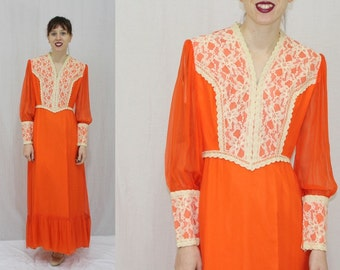 Orange Chiffon Dresses