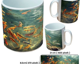 Custom carp fish2 picture mugs cup as a special personalised gift for a fish lover for all occasions