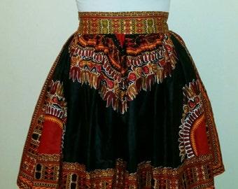 Onai Dashiki African Print Skirt