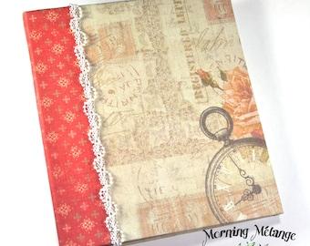 Keepsake Journal, handmade journal, shabby chic journal, pocket journal, folder journal, shabby chic book, handmade book, ladies journal