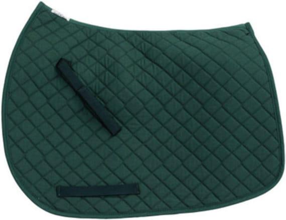 items similar to tuffrider hunter green dressage saddle pad  monogrammed on etsy