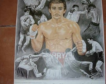 limited edition print,barry mcguigan featherweight champion of the world, signed by him