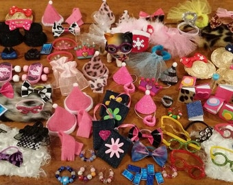 Littlest Pet Shop LPS 10 RANDOM Accessories Clothes Lot of 10 Custom Made, LPS Pet not included