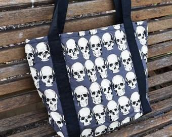 RAD Skulls Print Tote Bag