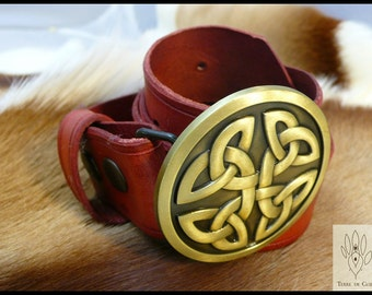 Custom Leather Belt celtic - vegetable tanned