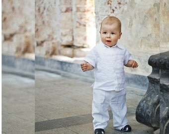 Linen Baptism suit, Baptism pants,Christening Gown, Linen baptism baby boys, Christening suit boys, Linen baby, Weding boys outfit