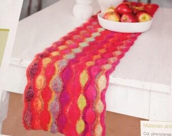 Reversible Table Runner Knitting Pattern