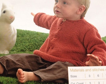 Baby's Flared Jumper Knitting Pattern