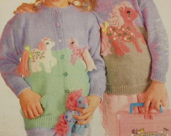 My Little Pony Jumper & Cardigan Knitting Pattern (61 - 76cm)
