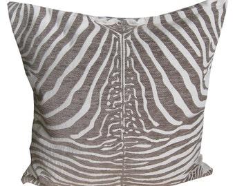 Zebra Throw Pillows, Throw Pillow Covers, Decorative Pillow Covers, 18x18 Pillow Covers, Couch Pillow Covers, Sofa Pillow Covers