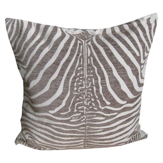 Items similar to Zebra Throw Pillows, Throw Pillow Covers, Decorative Pillow Covers, 18x18 ...
