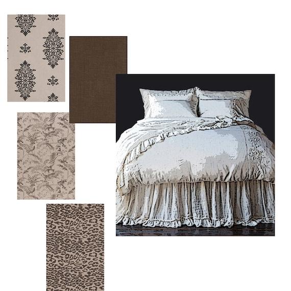 Duvet covers bed skirt ruffled bed skirt pillow shams euro for King shams on queen bed