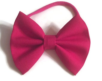 Flamingo Pink Fabric Bow