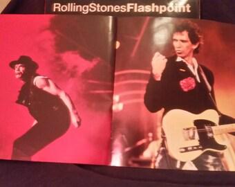 """Rolling Stones Live Album """"Flashpoint""""-Rare Vinyl plus tourbook"""