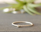 Tiny Silver Stacking RIng, Tiny Gemstone Ring, Tiny Cubic Zirconia Ring, Silver Stacking Ring, Tiny diamond Ring, CZ Ring