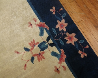 Vintage Chinese Art deco Rug Size 8'x9'11''