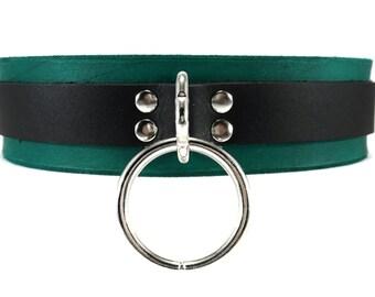 BDSM Collar Bondage Toys Slave Collar in Teal Classic
