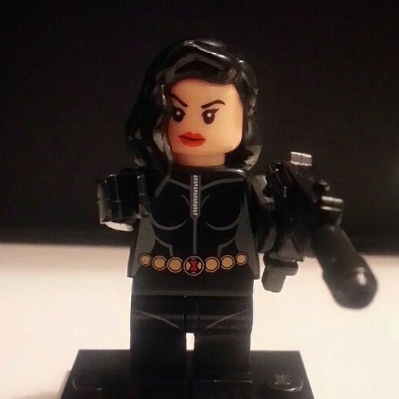 Items similar to BLACK WIDOW V2. Custom Minifigure 100% ...