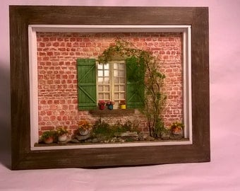 Dollhouse ,Miniature,Framed Model, Window Art ,Diorama,