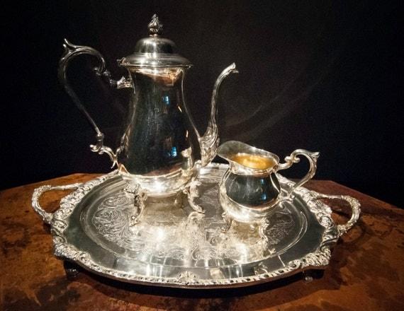 Three Piece Silver Plate Tea Service