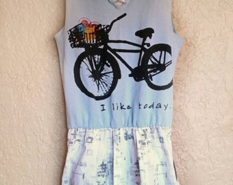 CUSTOM Upcycled T-shirt Dress, Tunic, Upcycled men's dress shirt, Casual Dress, Dress with pockets, Unique Apparel