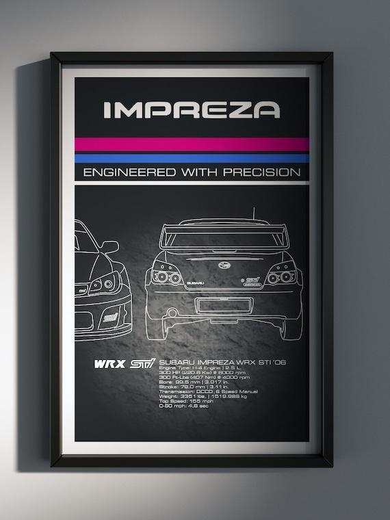 Subaru Impreza WRX STi '06 Poster, Stock USA Impreza WRX STi Poster - Art Print Production