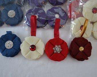 Handmade Felt Christmas Ornaments * Glitz * Blingy * Sparkle - Bulk Order of 28 (set 1)