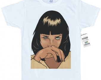 Mia Wallace T shirt Artwork