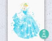 Cinderella Print Cinderella Disney Print Cinderella Art Cinderella Wall Art Cinderella Printable Disney Nursery Cinderella Decor Instant