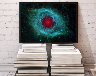 Helix Nebula poster Space decor Galaxy print