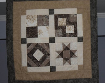 Quilted Mocha Table Topper