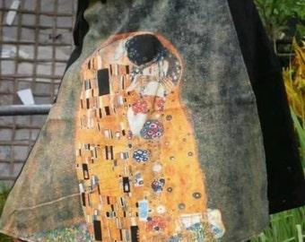 Gustav Klimt short wrap skirt