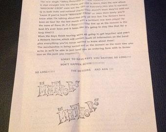 The Meteors Vintage Newsletter